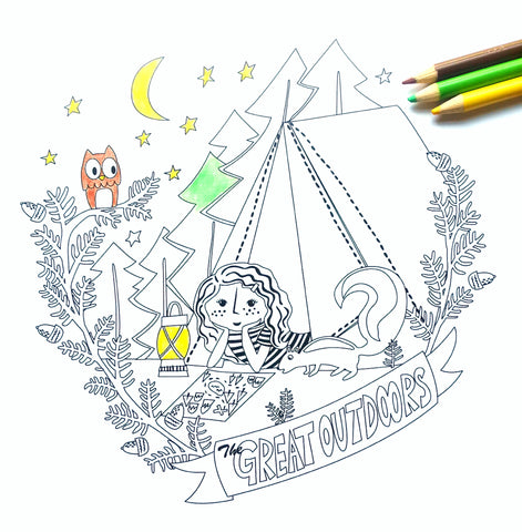 Great Outdoors coloring sheet
