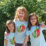 "Girls Short Sleeve Shirt ""The Great Outdoors"" by Sunrise Girl"