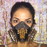 Burning Man Dust Mask, black base style 2