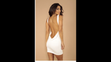 Leiluna Collection Sleeveless backless dress CREAM