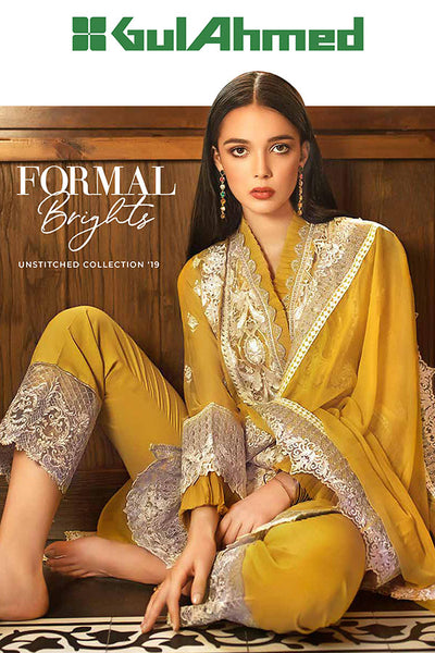 Gul Ahmed Formal Brights Collection 2019