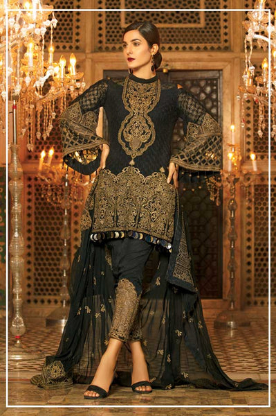 Mah E Rooh Luxury Chiffon Embroidered Formal Collection 2018