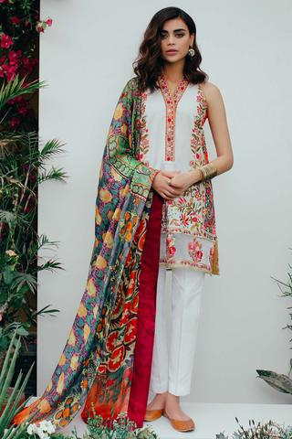 Pakistani Suits with Silk Dupatta