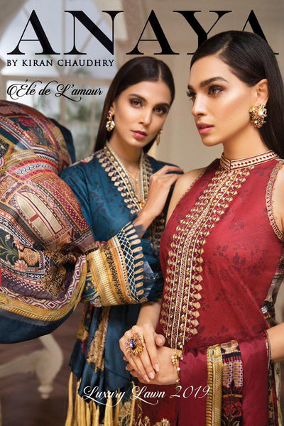 Anaya by Kiran Chaudhry – Ete de L'Amour Luxury Lawn Collection 2019