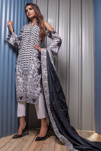 Firdous Noir - Limited Edition Lawn Collection