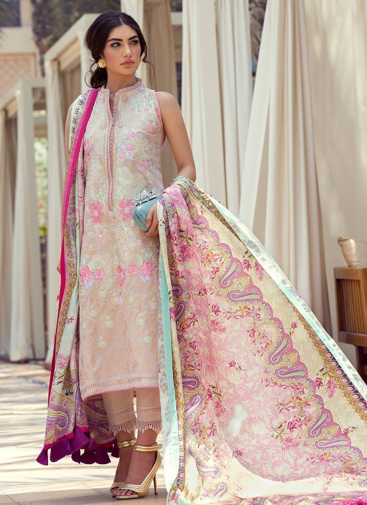 Farah Talib Aziz Luxe Eid Lawn Collection 2018 – Laaleh - FTA-07