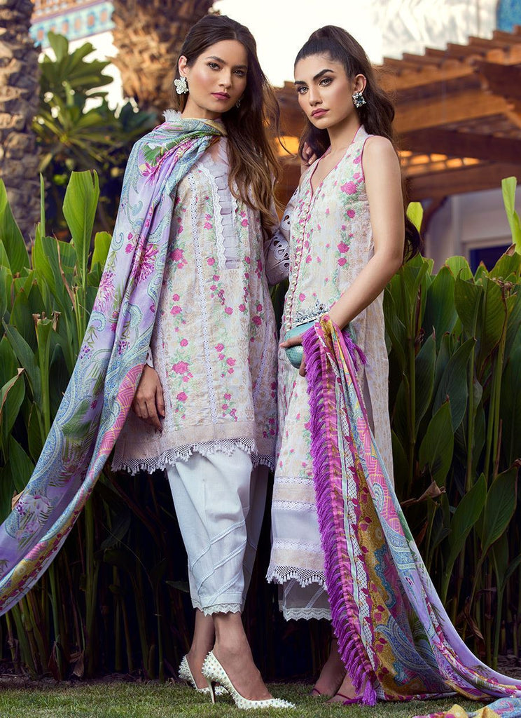 Farah Talib Aziz Luxe Eid Lawn Collection 2018 – Zarq - FTA-05