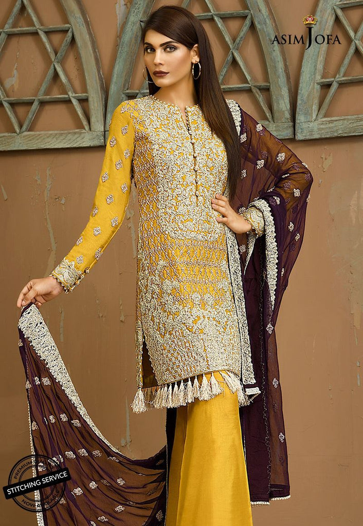 Asim Jofa Signature Embroidered Collection 2018 – AJ-4B