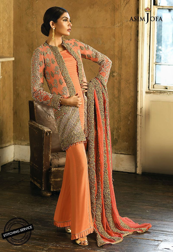 Asim Jofa Signature Embroidered Collection 2018 – AJ-3B