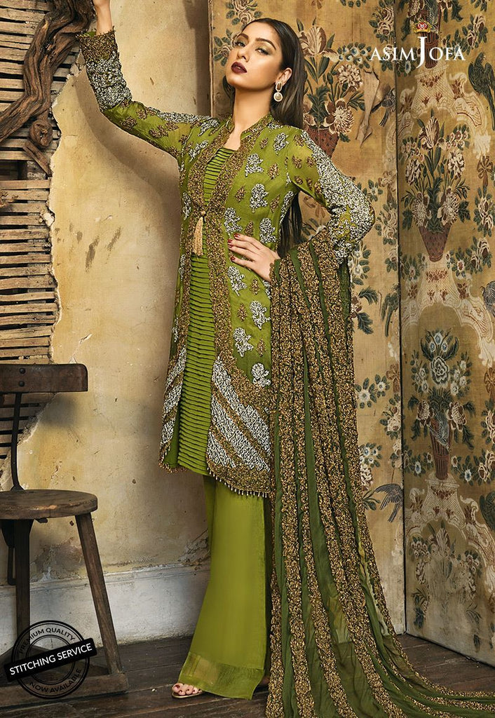 Asim Jofa Signature Embroidered Collection 2018 – AJ-3A