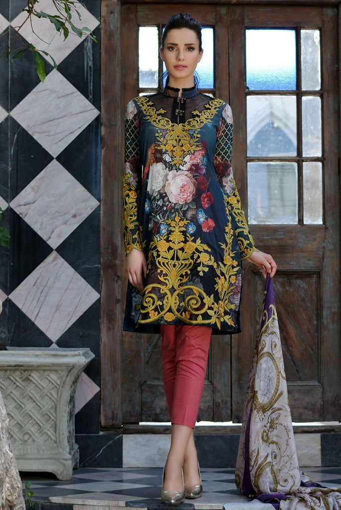 Tabassum Mughal Lawn Collection 2016 – 11A - YourLibaas  - 1