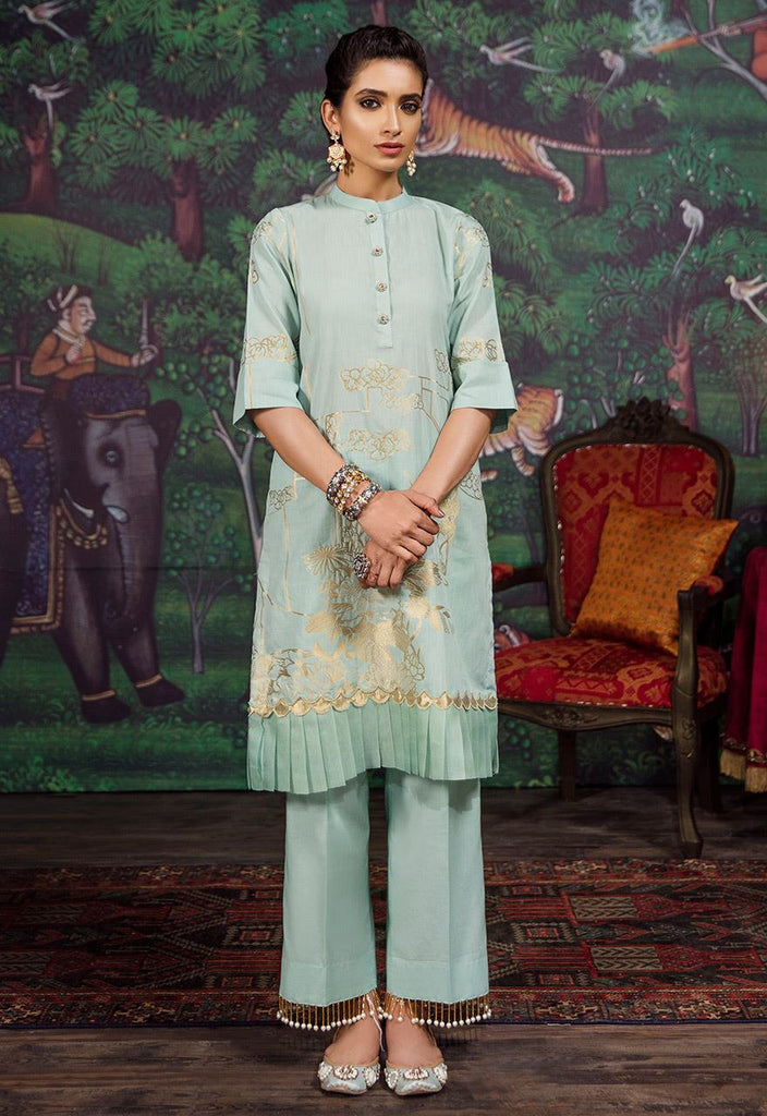 Cross Stitch Eid Jacquard Collection 2018 – Harbor gray