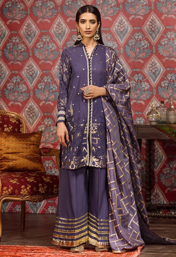 Cross Stitch Eid Jacquard Collection 2018 – Crown blue