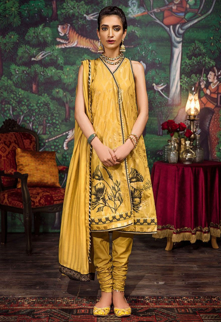 Cross Stitch Eid Jacquard Collection 2018 – Oil yellow