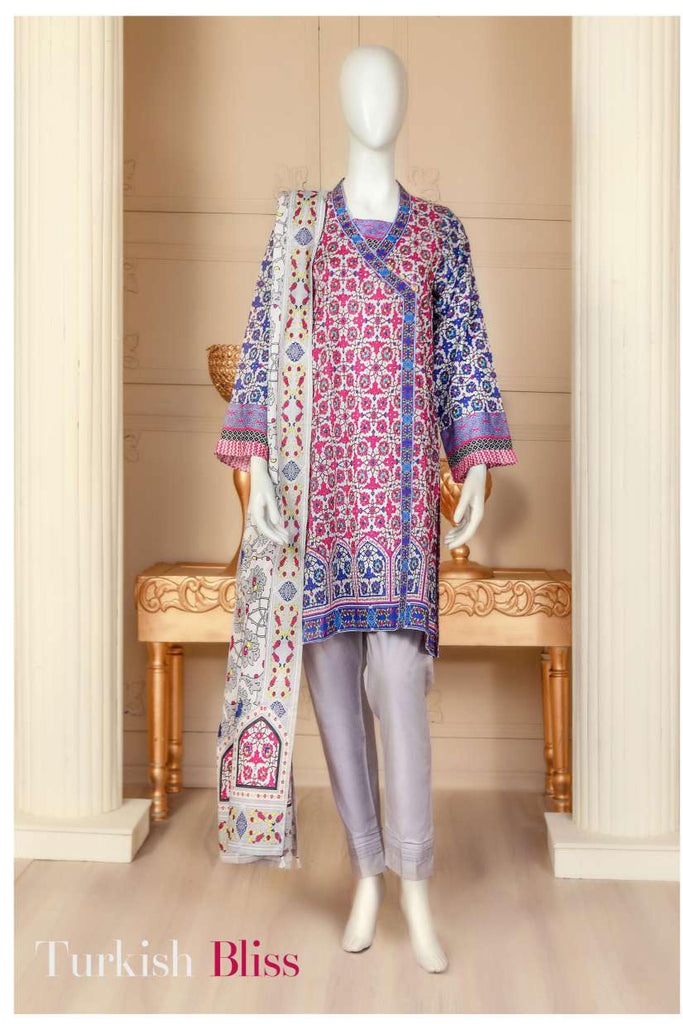 Aansa by Owais Gujrati Summer Collection 2019 – 2B - Turkish Bliss