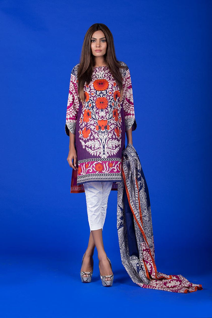 Sana Safinaz Muzlin Lawn Collection – M1-08B - YourLibaas  - 1