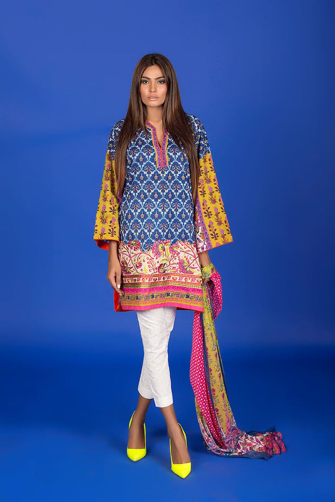 Sana Safinaz Muzlin Lawn Collection – M1-12A - YourLibaas  - 1