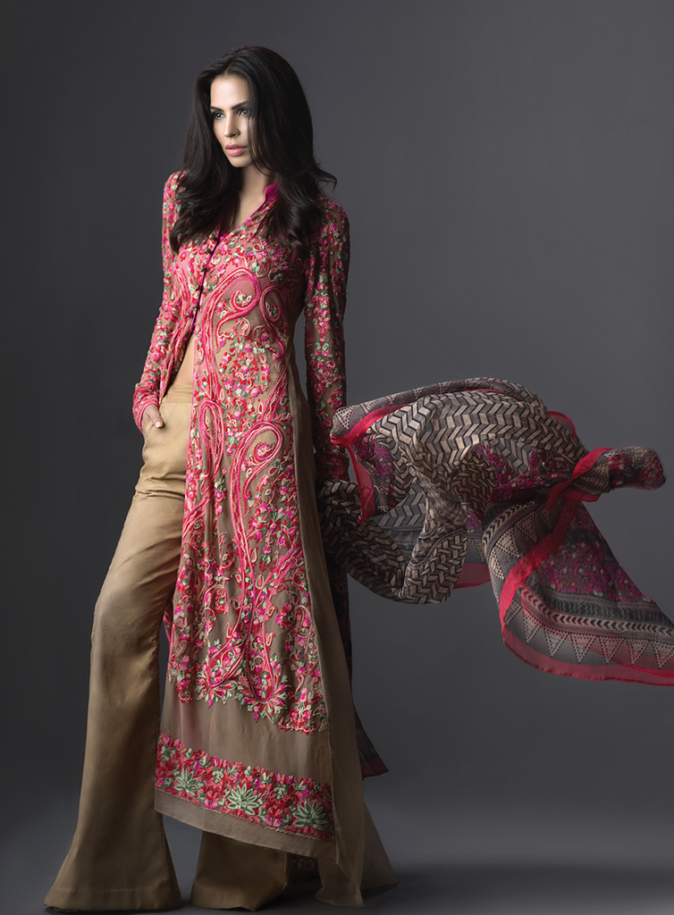 Sana Safinaz Luxury Formal Eid Collection '16 – 02A - YourLibaas  - 1