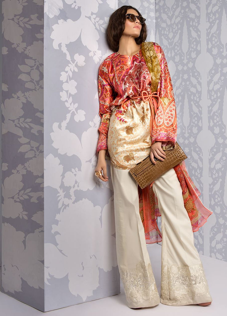 Sana Safinaz Silk Collection 2016 – 03B - YourLibaas  - 1