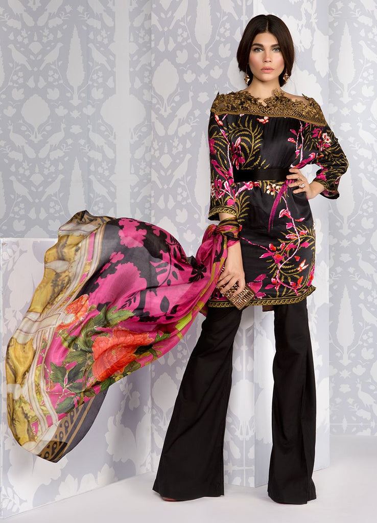 Sana Safinaz Silk Collection 2016 – 05A - YourLibaas  - 1