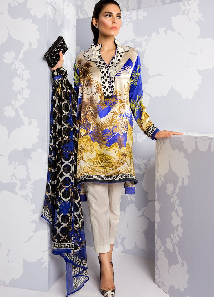 Sana Safinaz Silk Collection 2016 – 06B - YourLibaas  - 1