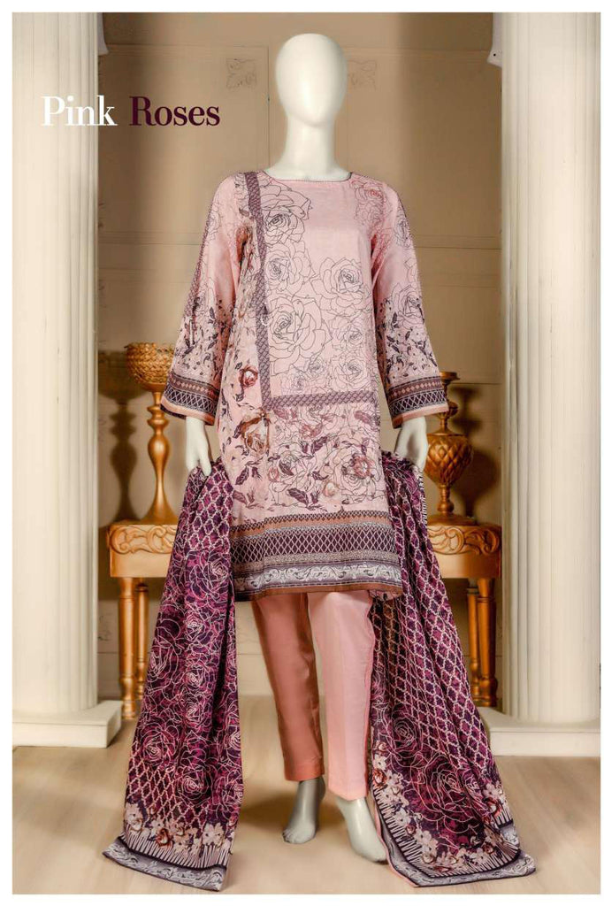 Aansa by Owais Gujrati Summer Collection 2019 – 4A - Pink Roses