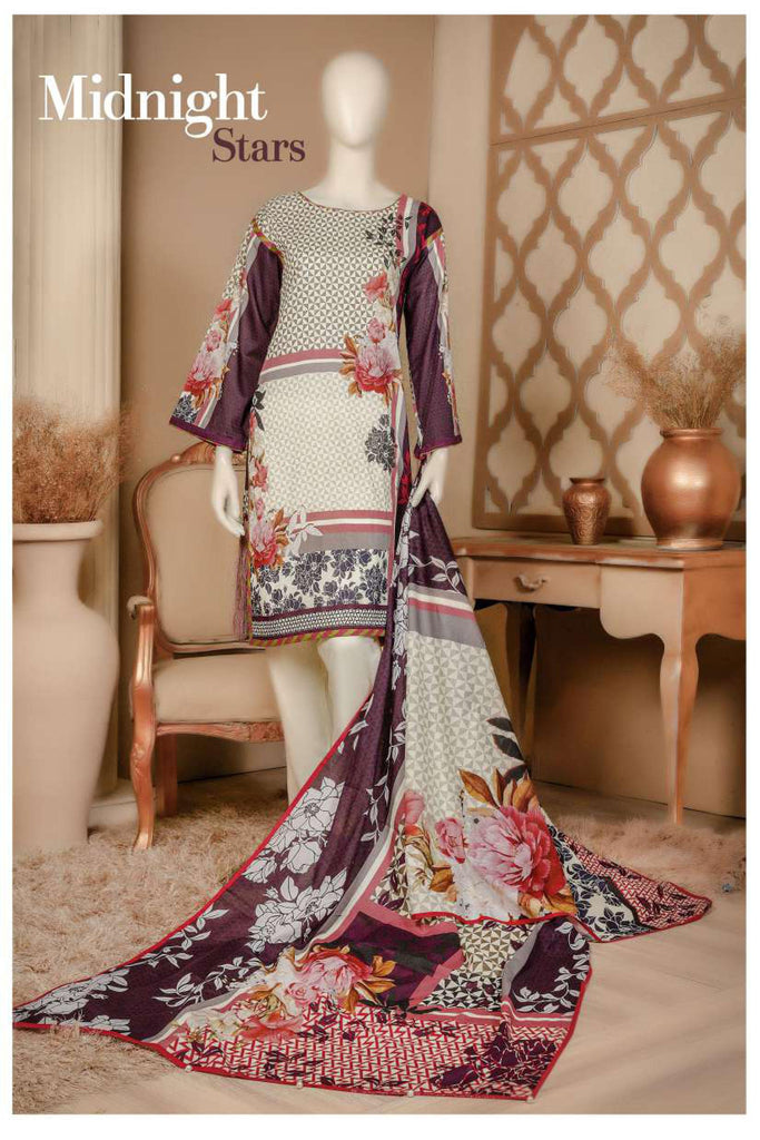Aansa by Owais Gujrati Summer Collection 2019 – 7B - Midnight Stars