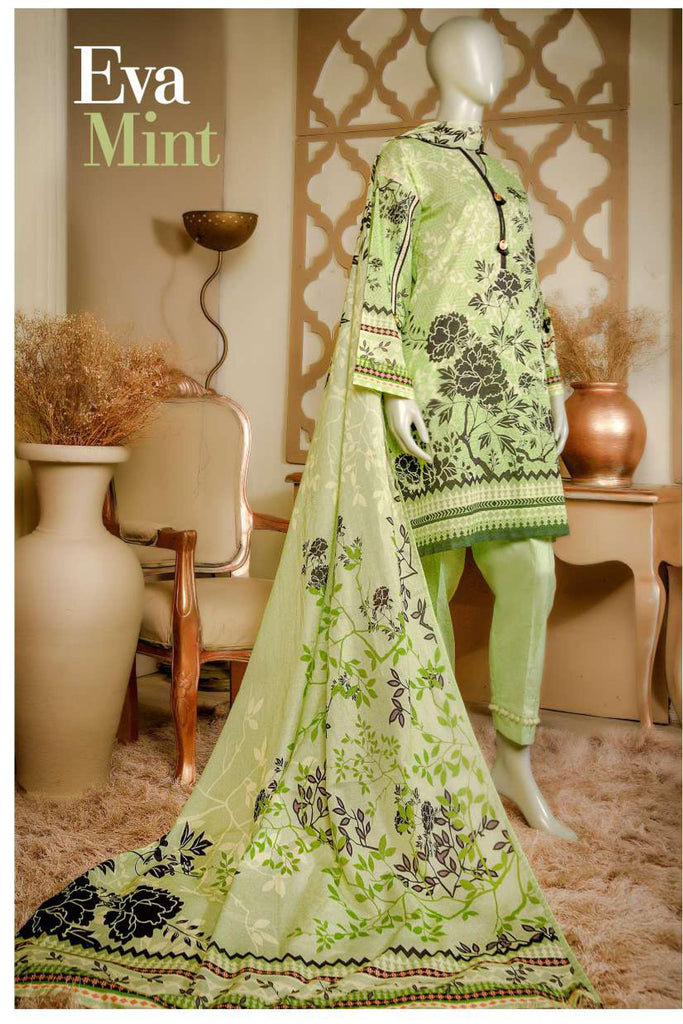 Aansa by Owais Gujrati Summer Collection 2019 – 8A - Eva Mint