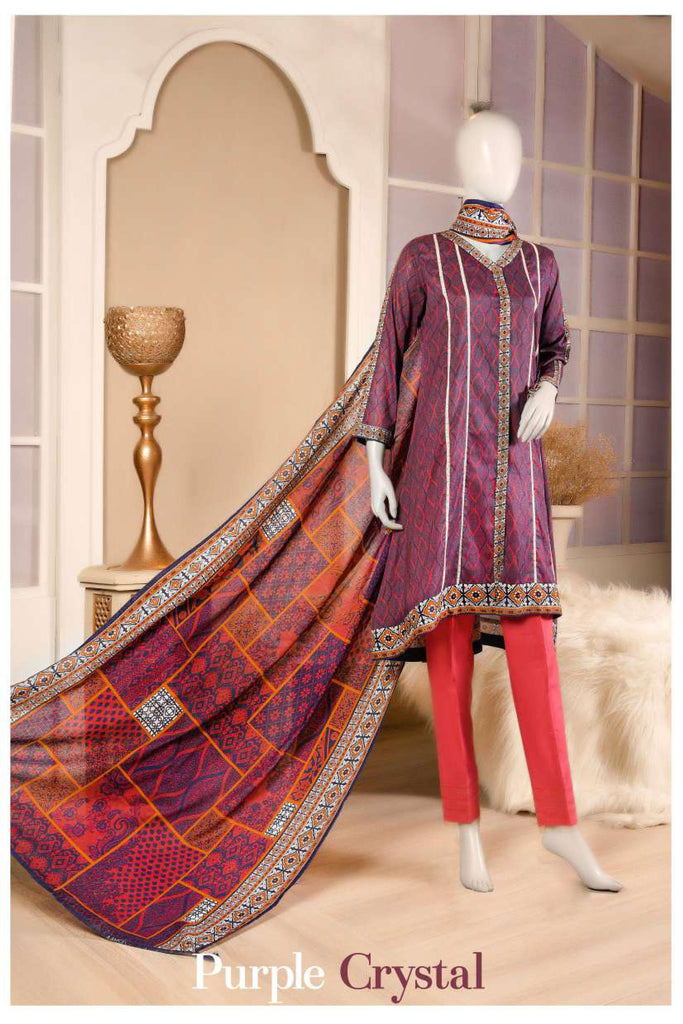 Aansa by Owais Gujrati Summer Collection 2019 – 9B - Purple Crystal