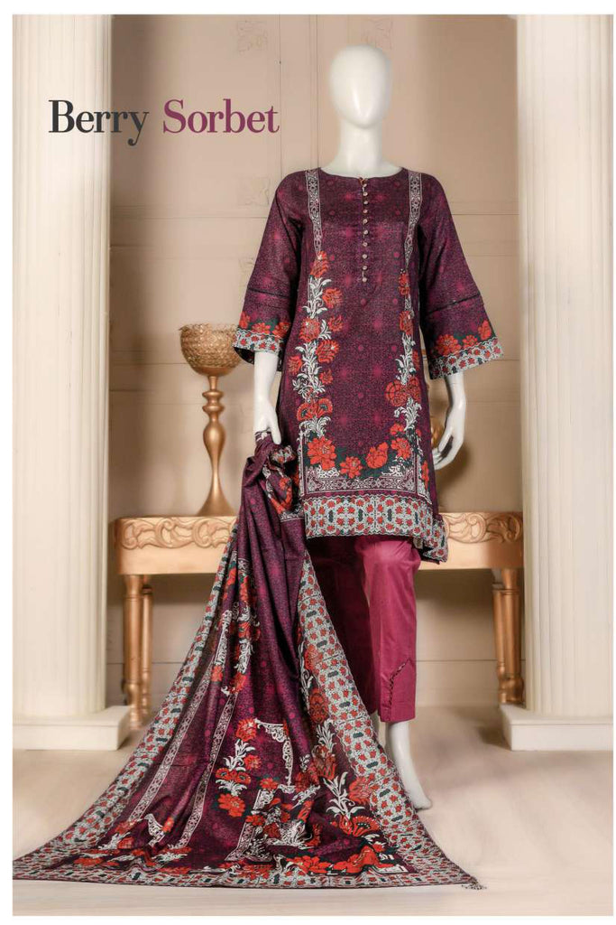 Aansa by Owais Gujrati Summer Collection 2019 – 10A - Berry Sorbet