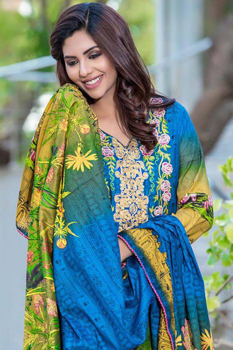 Falak Fabrics Lawn Collection 2017 – FF-005