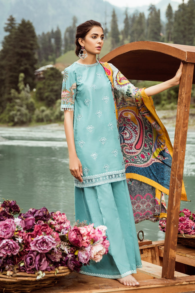 Zara Shahjahan Mushk Luxury Eid Lawn Collection 2018 – D5-Nazneen