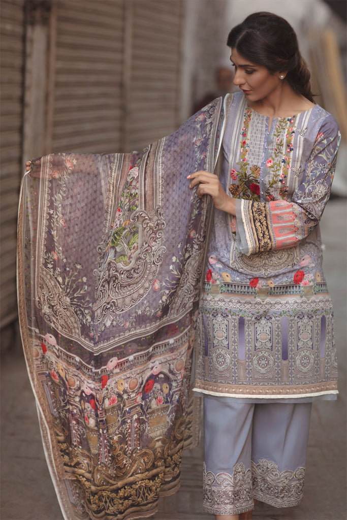 Firdous Spring/Summer Lawn Collection 2018 – EXC 18-01