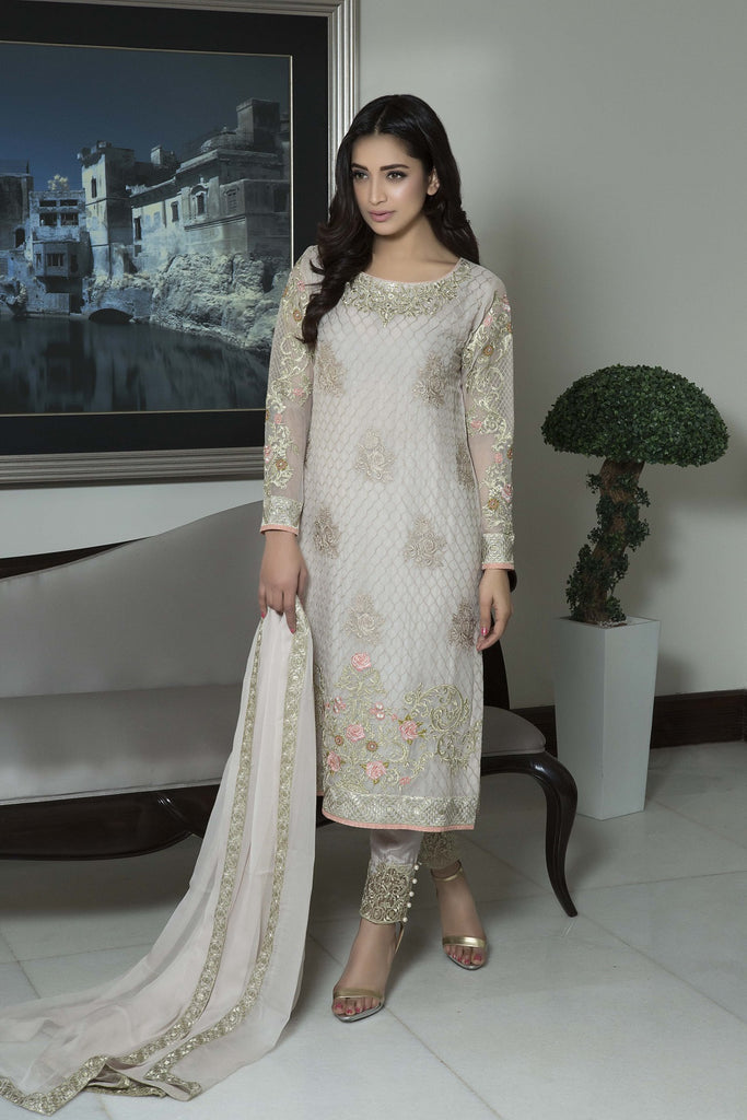Baroque Luxury Chiffon Embroidered Collection Vol 3 – Charismatic - YourLibaas  - 1