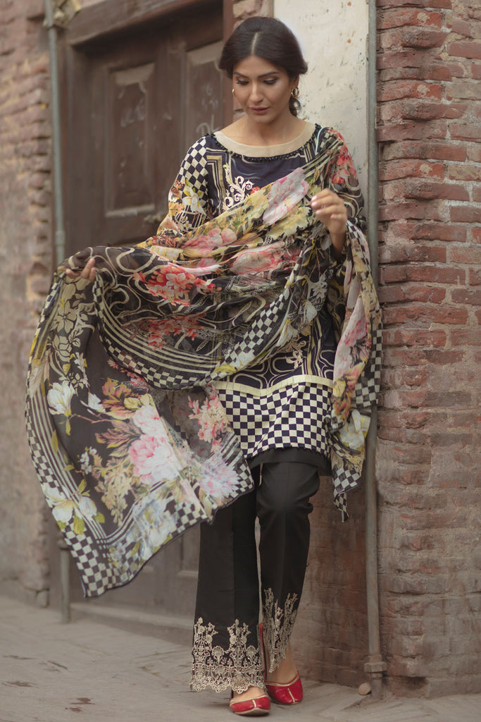 Firdous Spring/Summer Lawn Collection 2018 – EXC 18-02