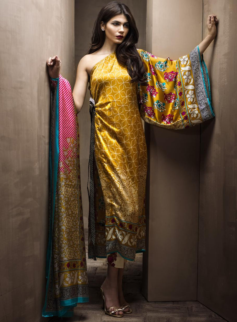 2A - Sana Safinaz Silk Collection 2015 - YourLibaas