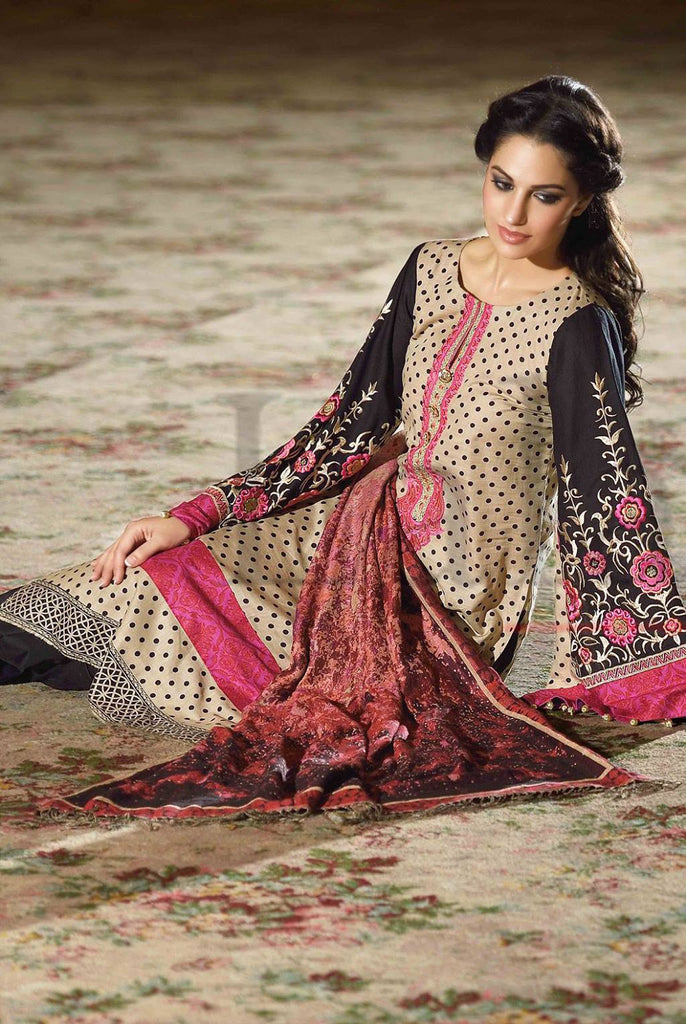Lala Brocade Winter Collection With Woolen Shawl - 02 - YourLibaas