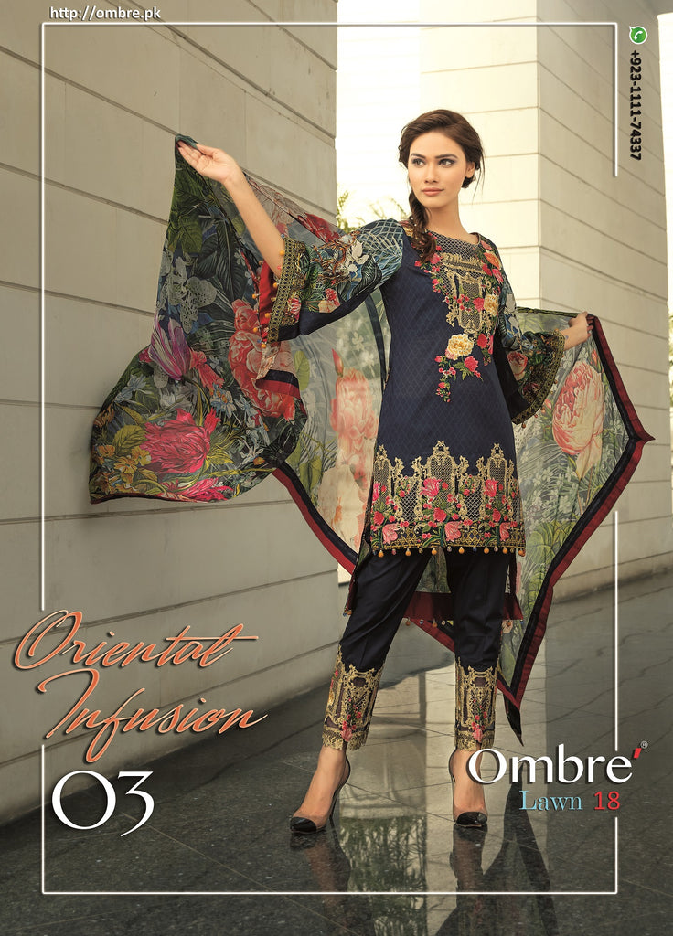 Ombre Lawn Collection 2018 – Oriental Infusion
