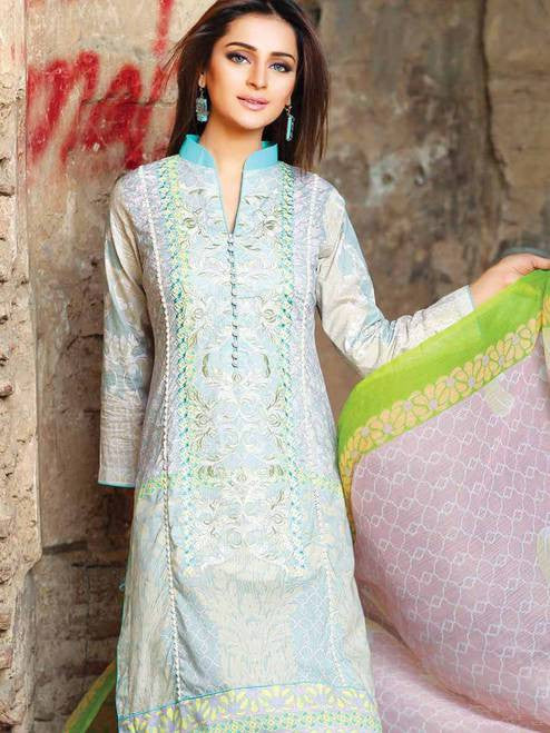 Zanisha Embroidered Lawn Collection 2016 – 03A - YourLibaas  - 1