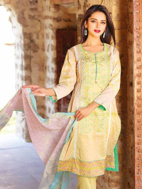 Zanisha Embroidered Lawn Collection 2016 – 03B - YourLibaas  - 1