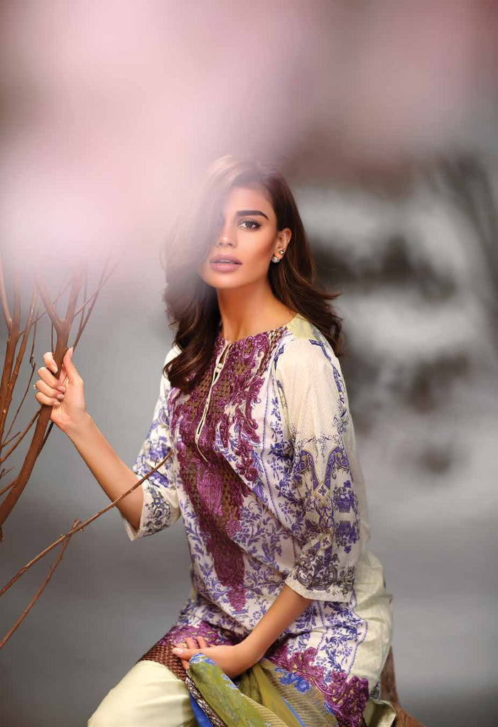 Fuchsia Summer Lawn Collection '16 – Design 03 - YourLibaas  - 1