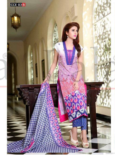 Lala Classic Embroidered - CCE-03B - YourLibaas  - 1
