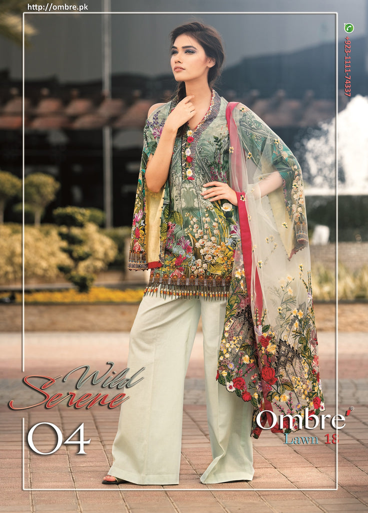 Ombre Lawn Collection 2018 – Serene Wilderness