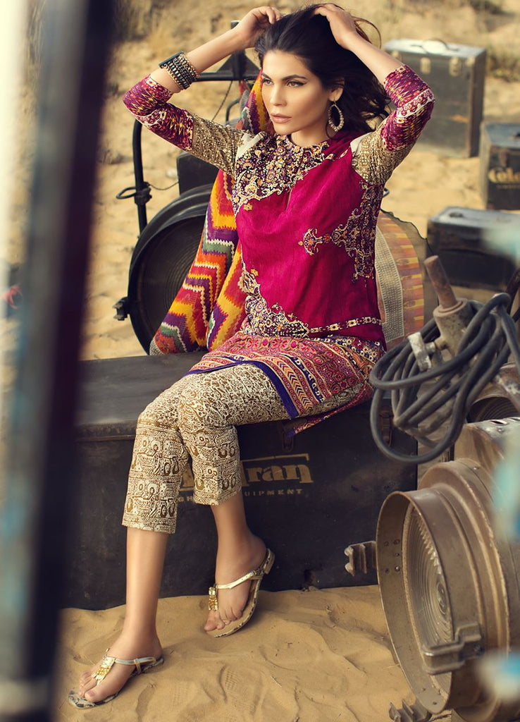 Sana Safinaz Spring/Summer Lawn Collection 2016 – 04A - YourLibaas  - 1