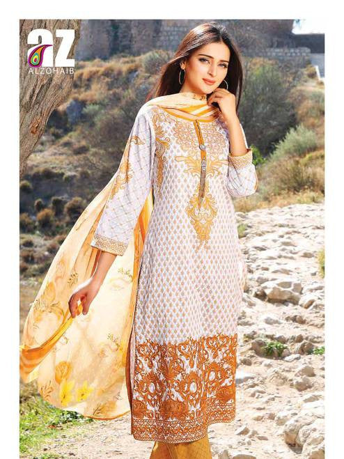 Zanisha Embroidered Lawn Collection 2016 – 04A - YourLibaas  - 1