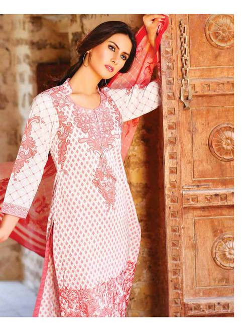 Zanisha Embroidered Lawn Collection 2016 –  04B - YourLibaas  - 1