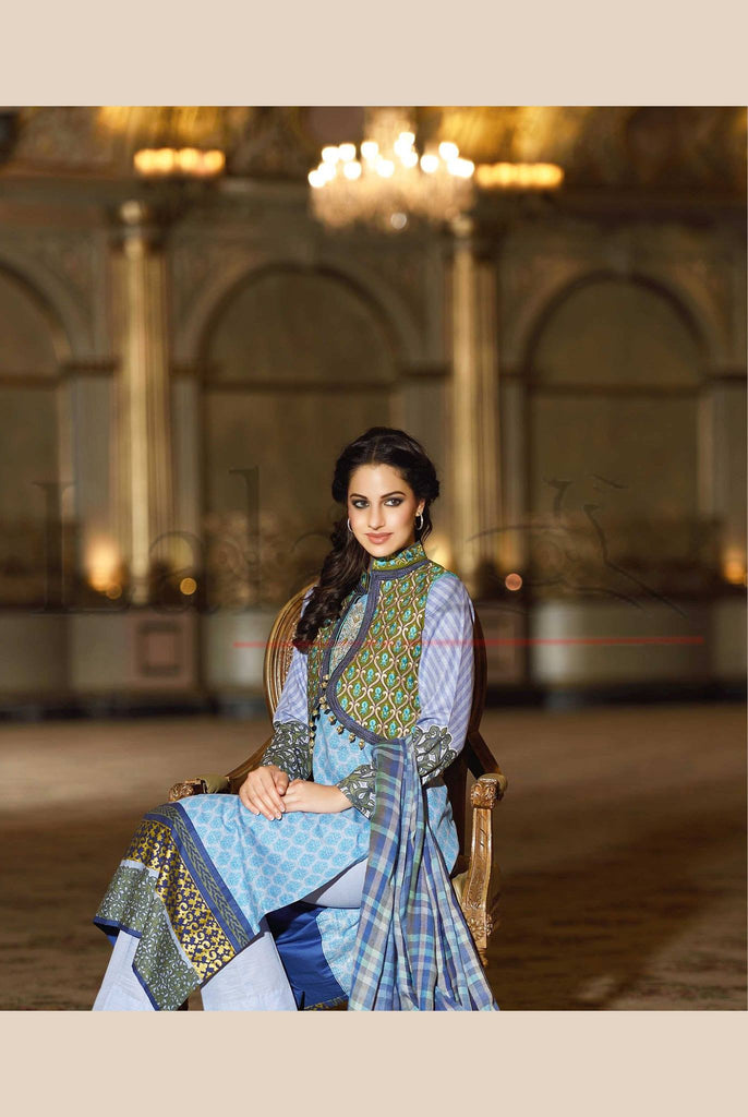 Lala Brocade Winter Collection With Woolen Shawl - BR20 - YourLibaas