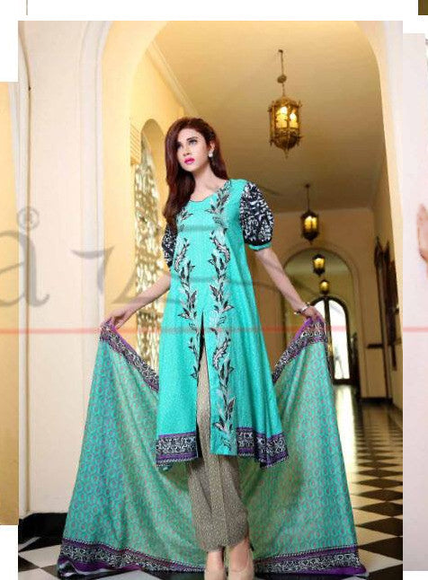Lala Classic Embroidered - CCE-04B - YourLibaas  - 1