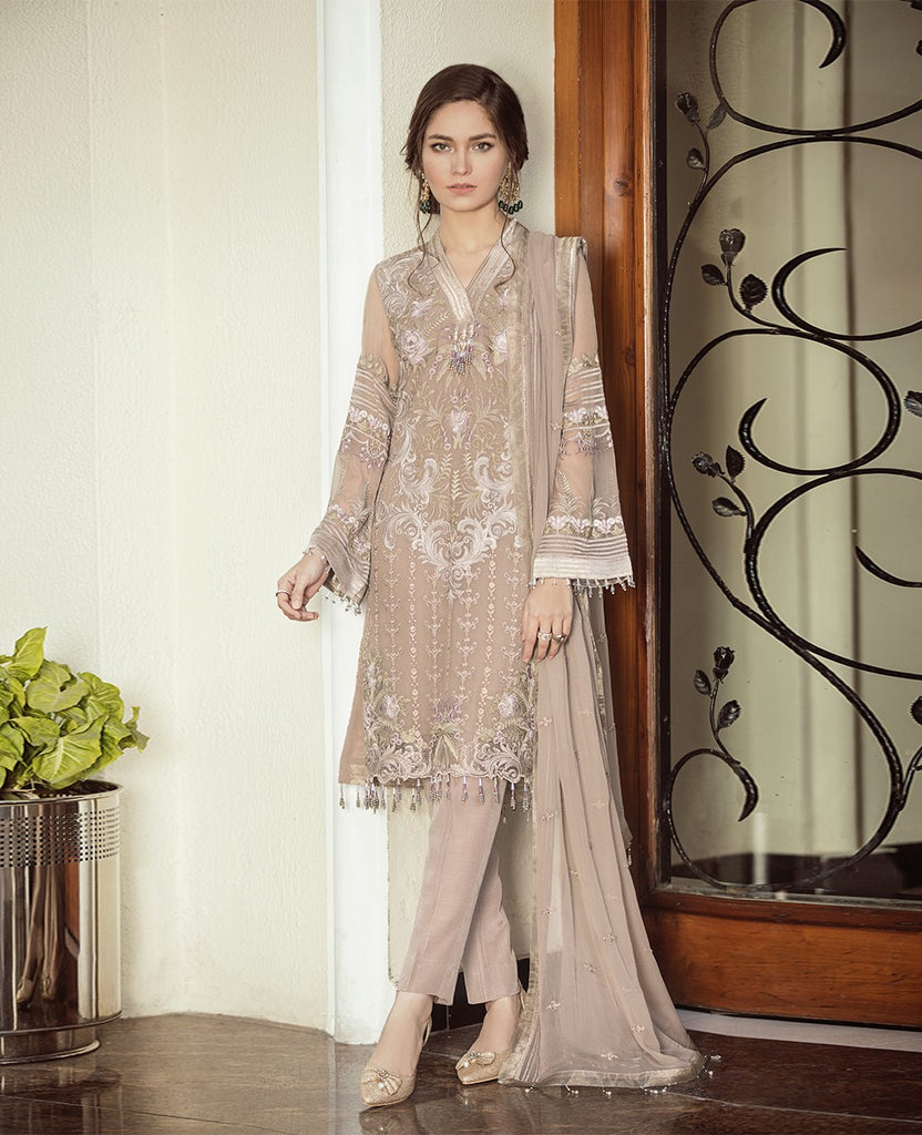 Flossie Embroidered Chiffon Lavish Luxury Edition – 05 Rose Dust