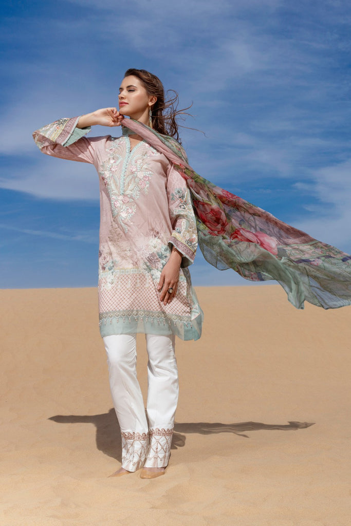 Baroque Fuchsia Lawn Collection Vol II 2018 – Felora